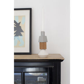 Wood Lights Stone candlestick